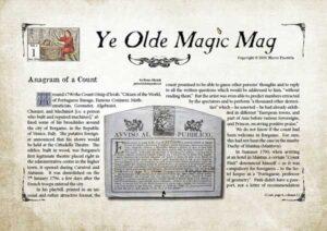 Ye Olde Magic Mag vol 1 n. 1