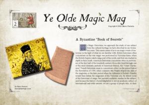 Ye Olde Magic Mag Vol 2 issue 2 - Yank Hoe, Byzantine Magic, Auction Action