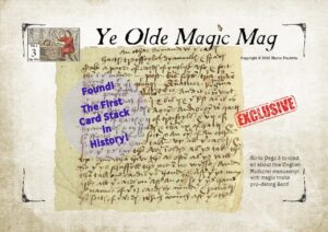 Ye Olde Magic Mag Vol 02 issue 03 medieval magic manuscript, magic auctions,david copperfield